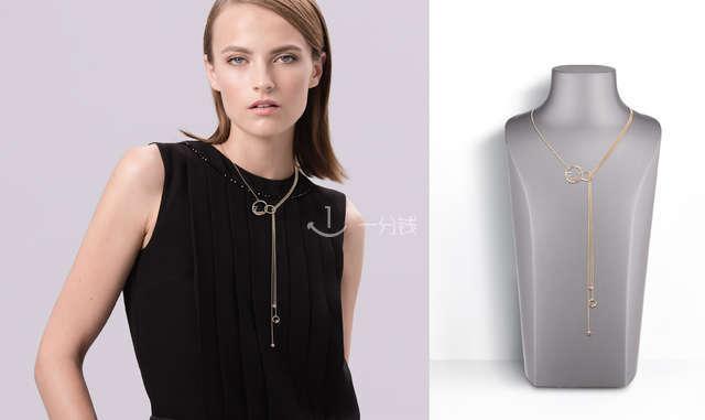 Dior金色长流苏项链