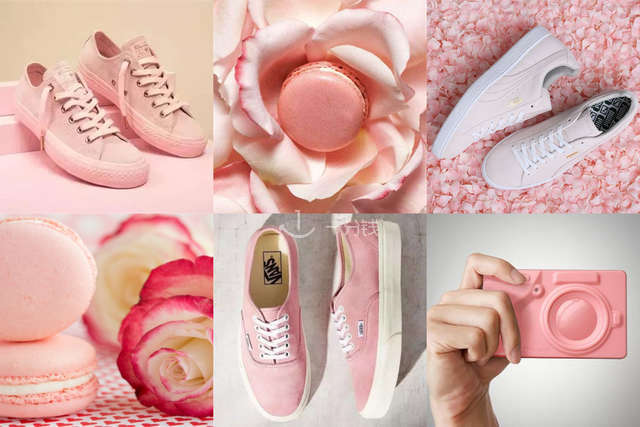 PUMA粉色,VANS粉色,马卡龙帆布鞋