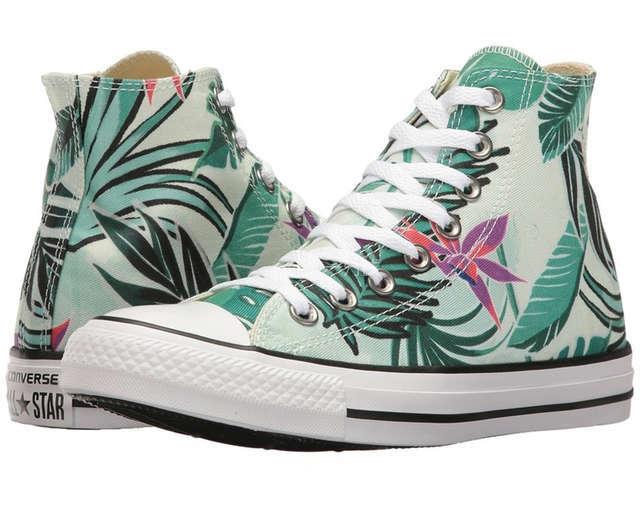 印花帆布鞋,Chuck Taylor All Star Tropical Print印花系列,沙滩度假帆布鞋