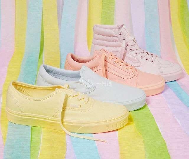 彩虹色帆布鞋,2017新款运动鞋,马卡龙彩色帆布鞋