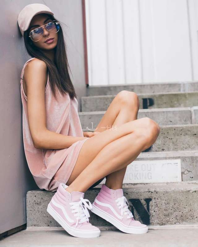 粉色vans,小清新VANS,新款小清新粉色VANS