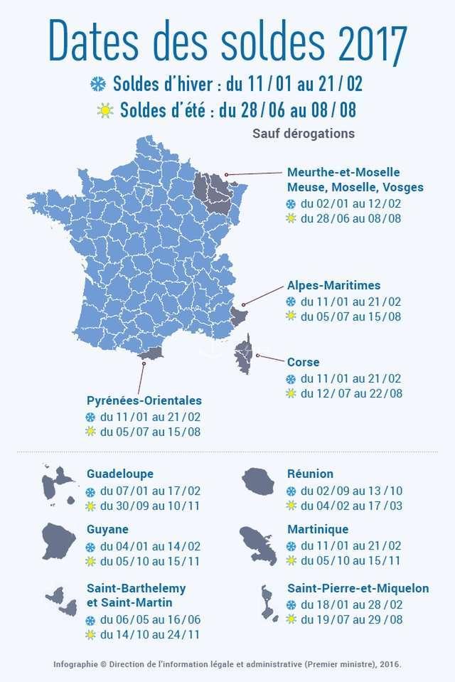 法国2017年夏季打折季时间表