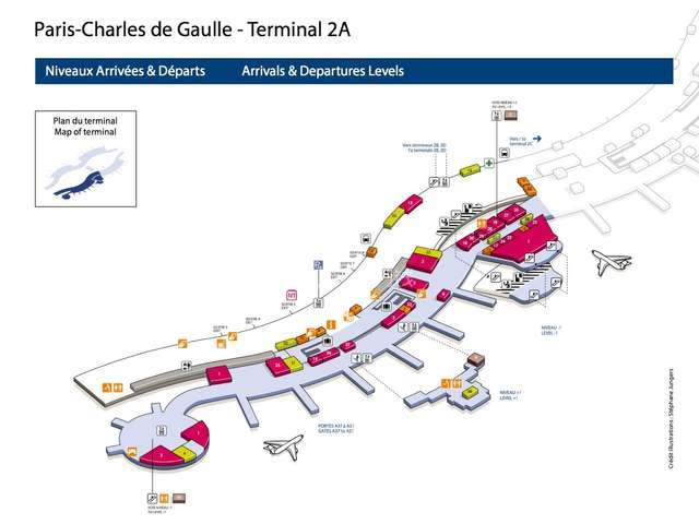 alt:戴高乐机场 T2 A航站楼 导引