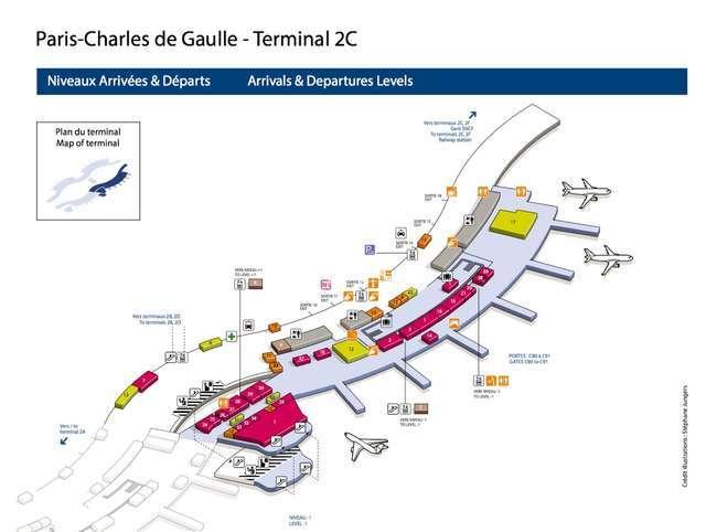 alt:戴高乐机场 T2 C航站楼 导引