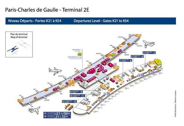 alt:戴高乐机场T2 E出发层