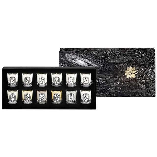 圣诞礼物diptyque2107限量12支迷你香烛礼盒